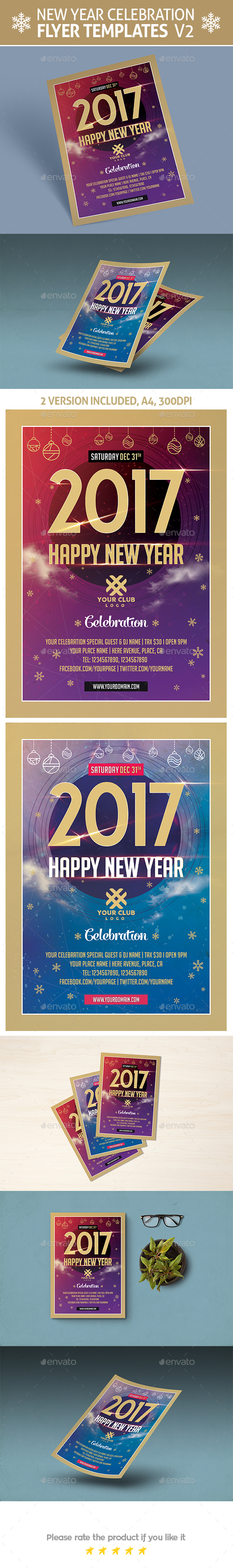 New Year Celebration Flyer Templates - Events Flyers