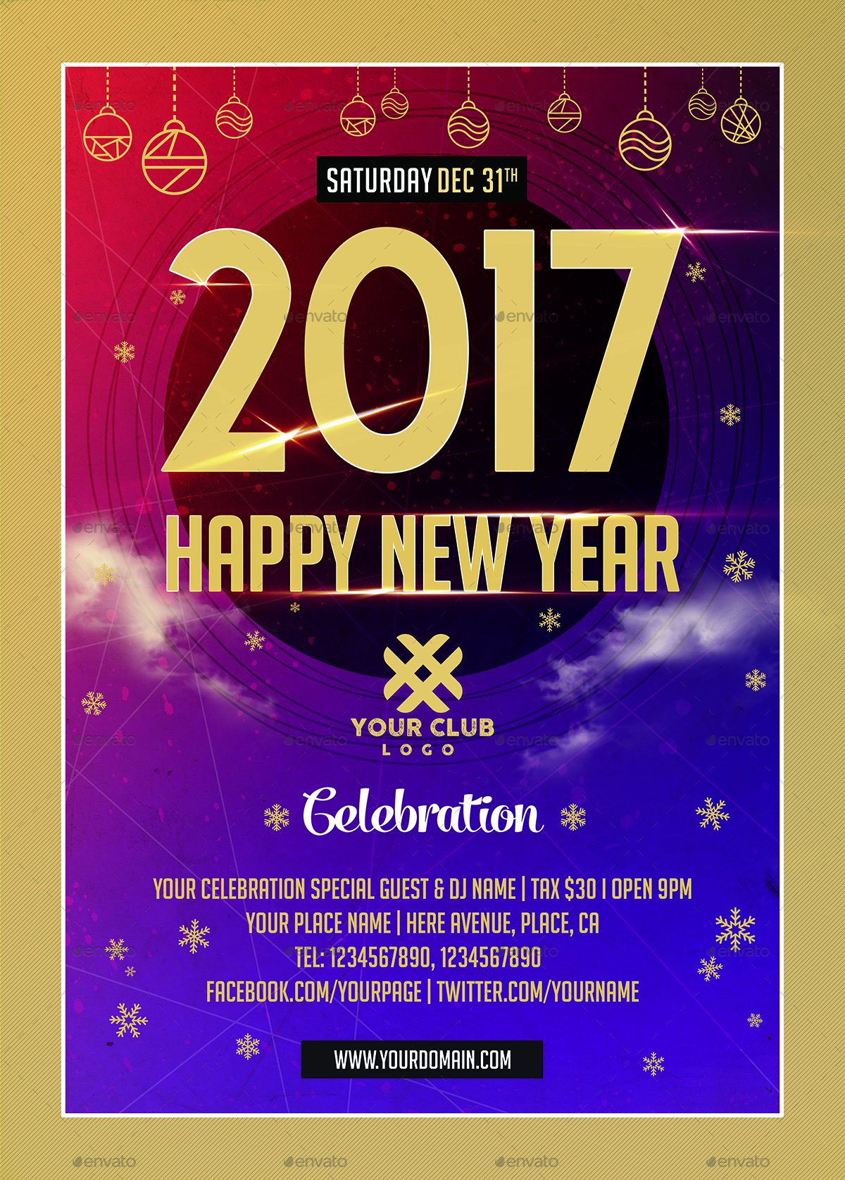 new year celebration flyer templates by xepeec