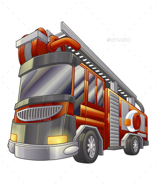 Fire Truck - Man-made Objects Objects