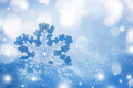 Silver Christmas decoration on snow - PhotoDune Item for Sale