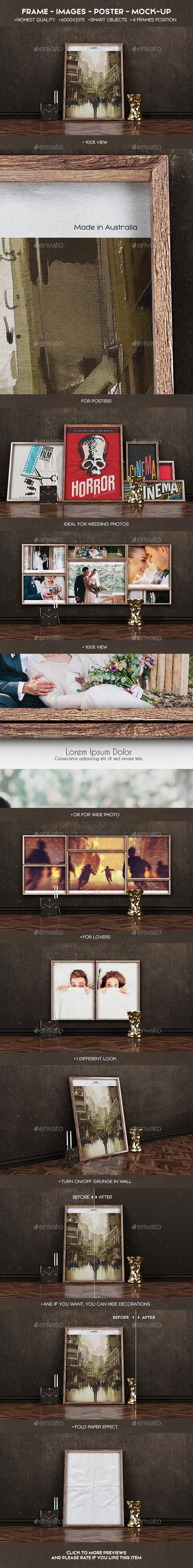 Frame Images Poster Mock-Up - Posters Print