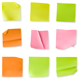 Set of 9 wrinkled stiky notes - GraphicRiver Item for Sale