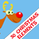 Christmas Cartoon Elements - VideoHive Item for Sale