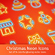 Christmas Neon Icons - GraphicRiver Item for Sale