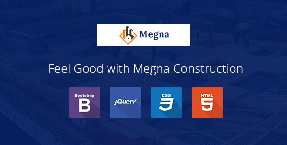 Megna Construction and Architecture Responsive HTML Template