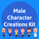 Male Character Creations Kit - GraphicRiver Item for Sale