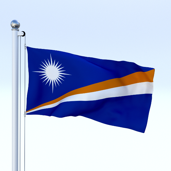 Animated Marshall Islands Flag - 3DOcean Item for Sale