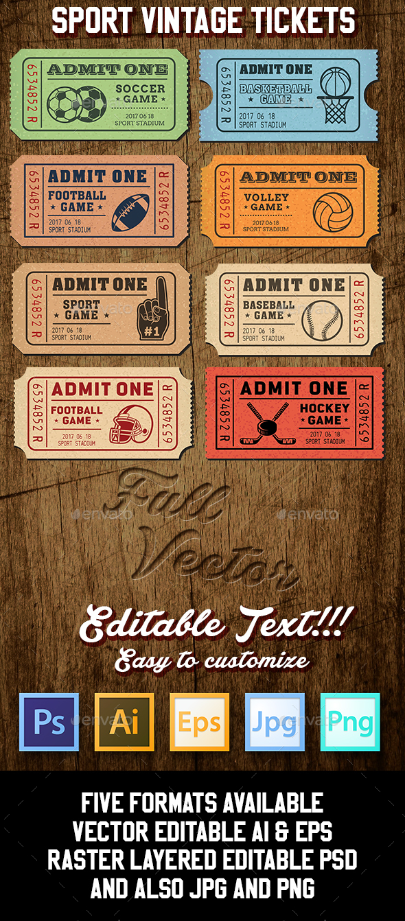 Vector Sport Tickets Templates - Vectors