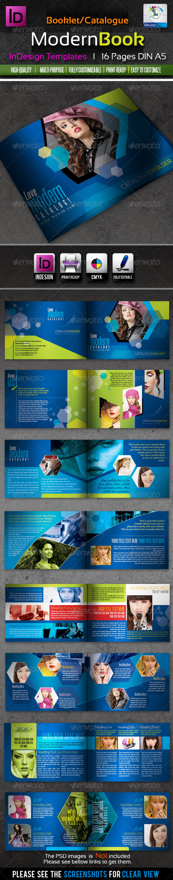 Corporate InDesign Modern Booklet/Catalog 16pages - Corporate Brochures