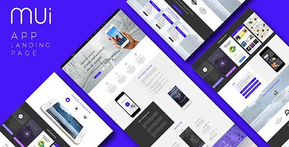 MUI – App Landing Page (PSD)