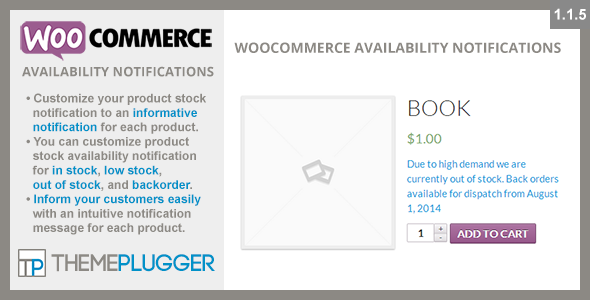 WooCommerce Availability Notifications - CodeCanyon Item for Sale