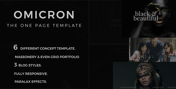 Omicron One Page Multipurpose HTML Template - Creative Site Templates