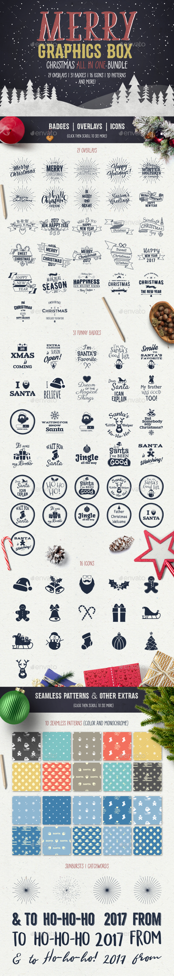 Merry Graphics Box - Badges & Stickers Web Elements