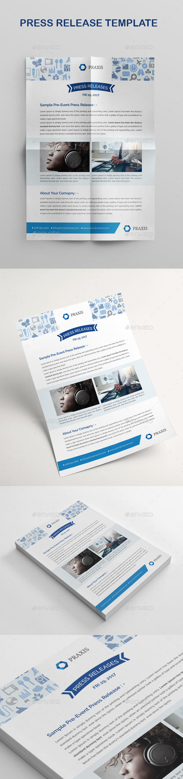 Press Release Template - Stationery Print Templates