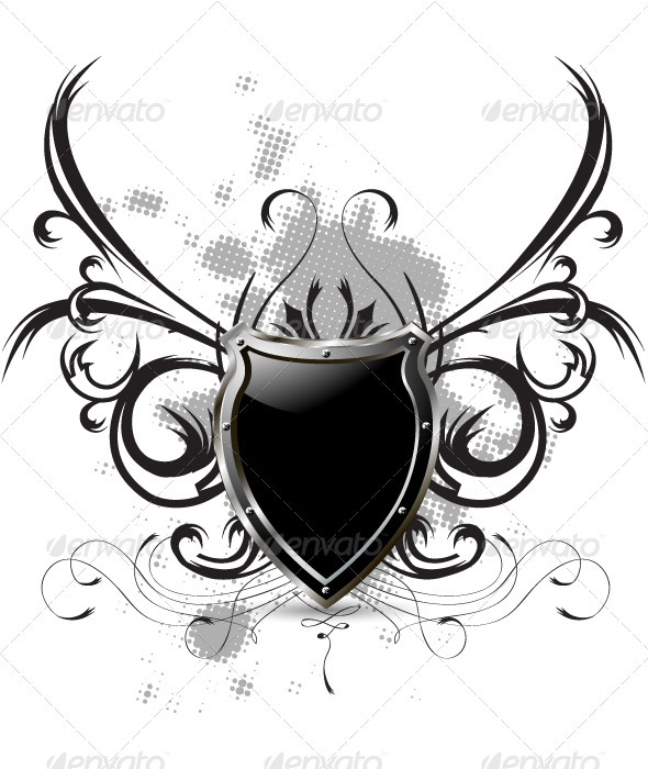 Black shield - Decorative Symbols Decorative