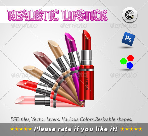 Realistic Llipstick Psd - Beauty Packaging