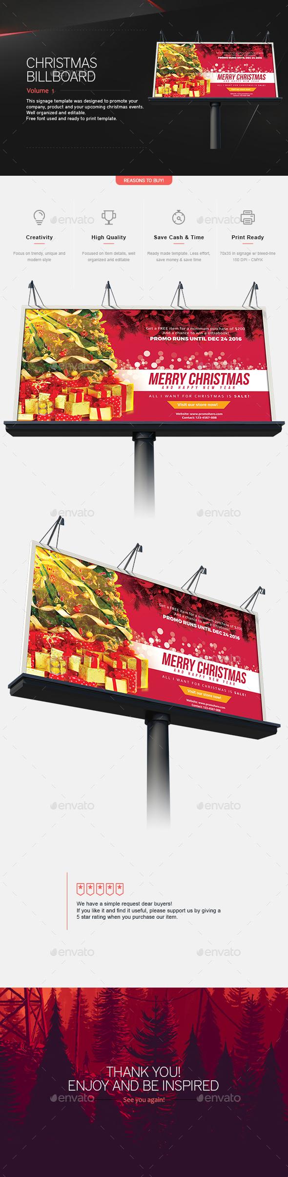 Christmas Signage & Billboard V.1 - Signage Print Templates