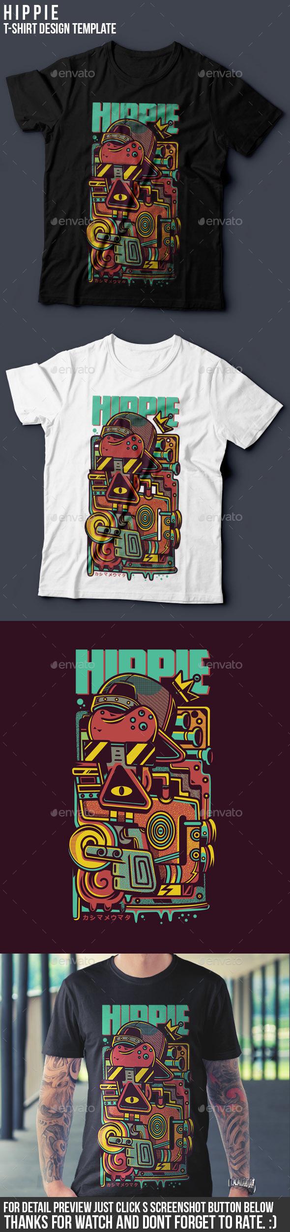 Hippie T-Shirt Design - Funny Designs