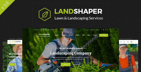 The Landshaper - Gardening, Lawn & Landscaping WordPress Theme