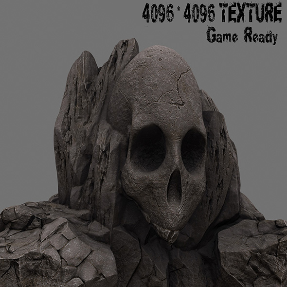 skull rock - 3DOcean Item for Sale