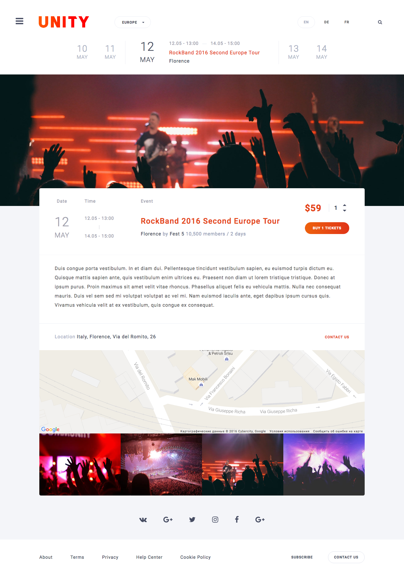 Unity event fest conference html template