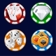 Poker Icon Color Chips - GraphicRiver Item for Sale