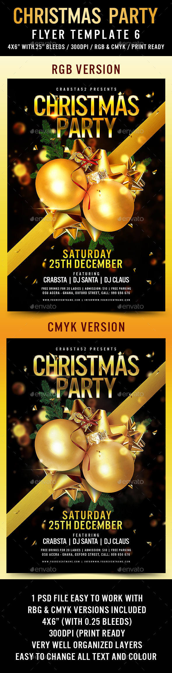 Christmas Party Flyer Template 6 - Flyers Print Templates
