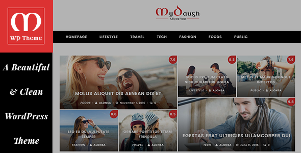 Mydaugh – A WordPress Blog & Magazine Theme