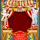 Circus Carnival Dancer and Clown Theme Vintage Vector - GraphicRiver Item for Sale