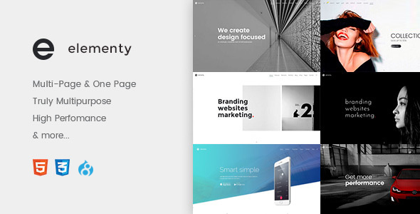 Elementy – Multipurpose One & Multi Page Drupal 8 Theme