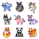 Cartoon Animals Icons Vector Set - GraphicRiver Item for Sale