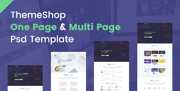 ThemeShop - One Page & Multi Page PSD Template - Business Corporate