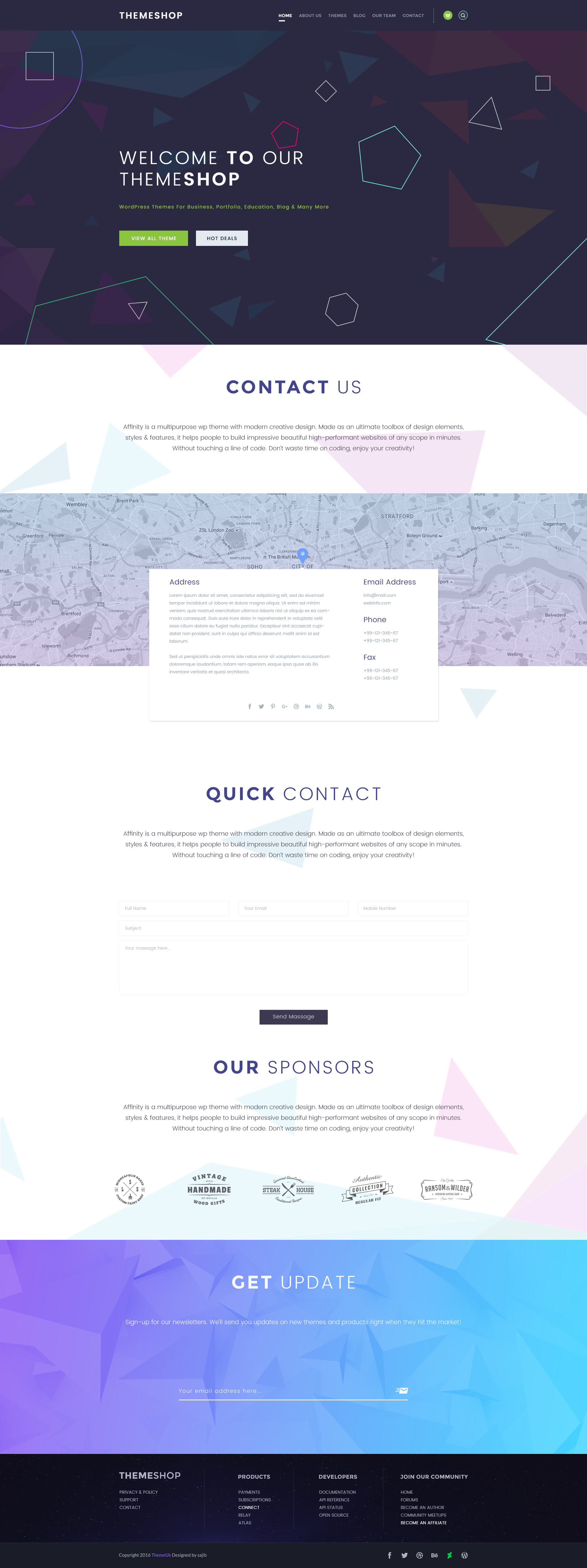 Themeshop One Page Amp Multi Page Psd Template By Theme