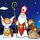 Saint Nicholas Devil and Angel in Town - GraphicRiver Item for Sale