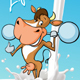 Fitness Cow Lifts Weights - GraphicRiver Item for Sale