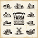 Vintage Farm Buildings Set - GraphicRiver Item for Sale