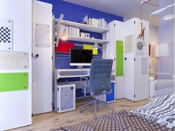 Rendering of Interior Design Children's Room - Architecture 3D Renders
