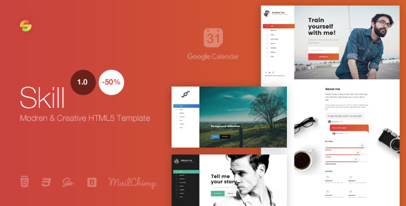 Skill – Modern & Creative HTML5 Template