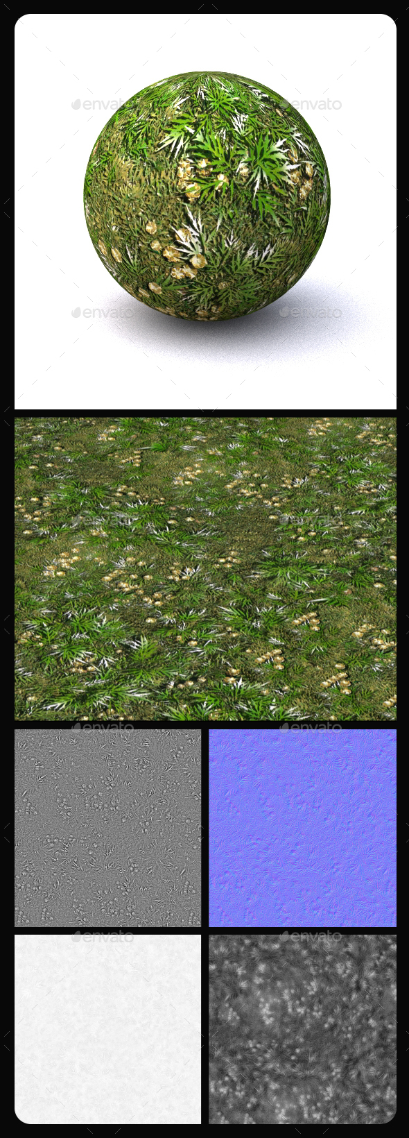 Grass Tile Texture 4 - 3DOcean Item for Sale