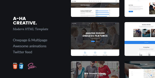 A-ha Creative | Multipurpose HTML5 Template - Site Templates