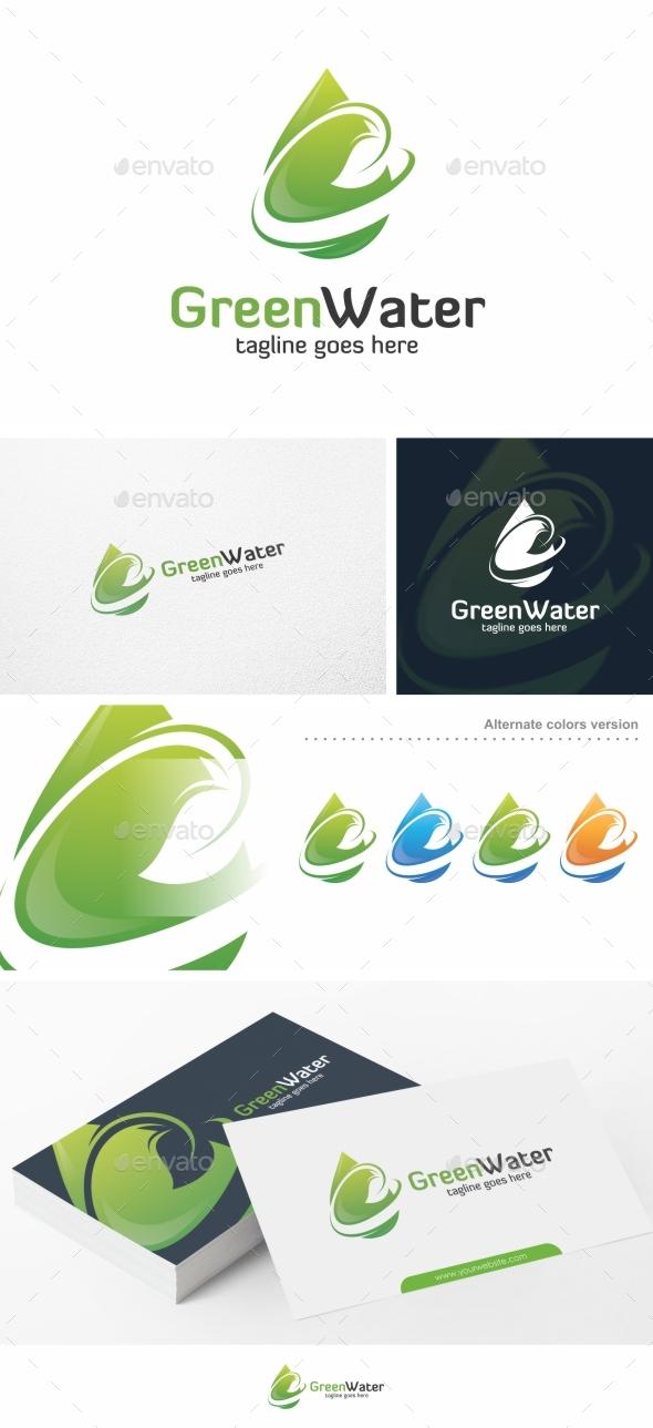 Green Water - Logo Template - Nature Logo Templates