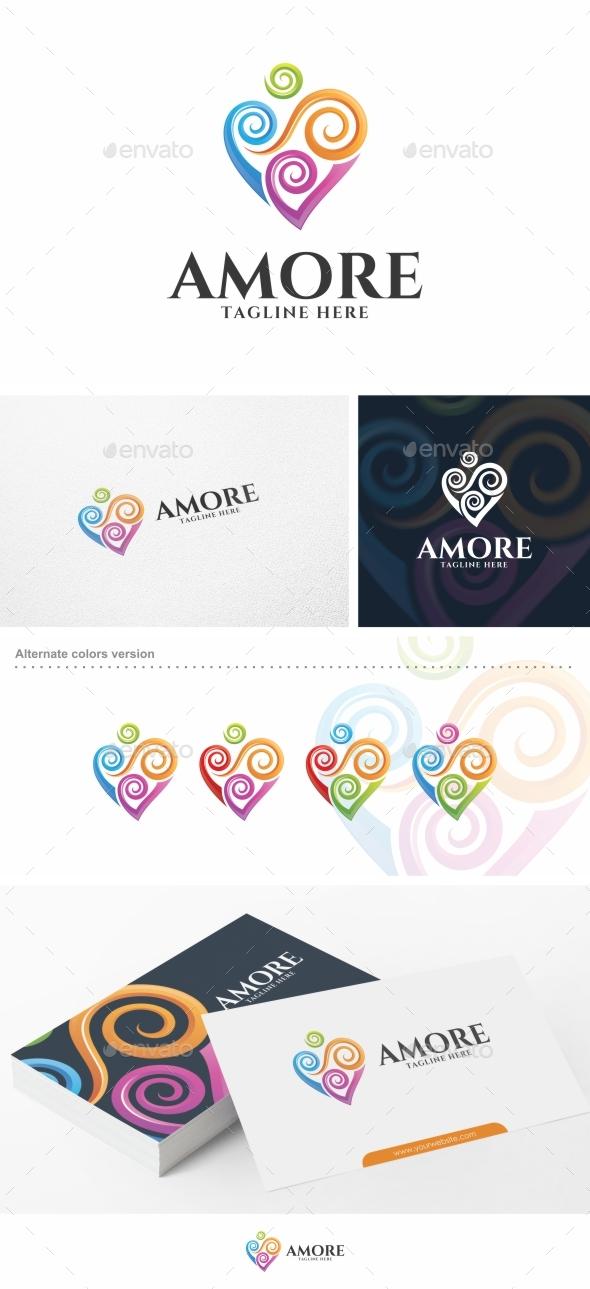 Amore / Heart - Logo Template - Abstract Logo Templates