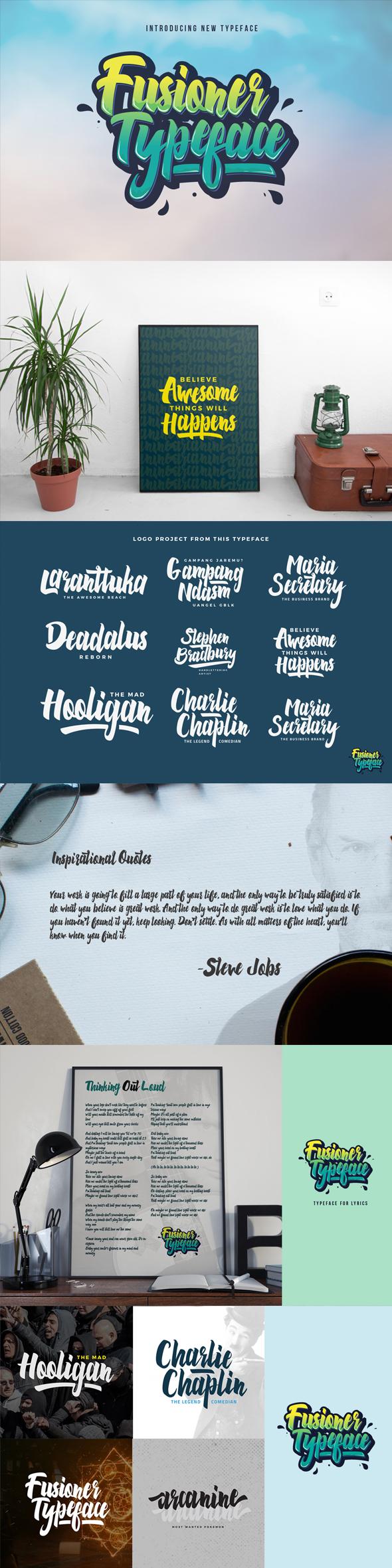 Fusioner Typeface - Script Fonts