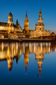 The towers of Dresden at dawn