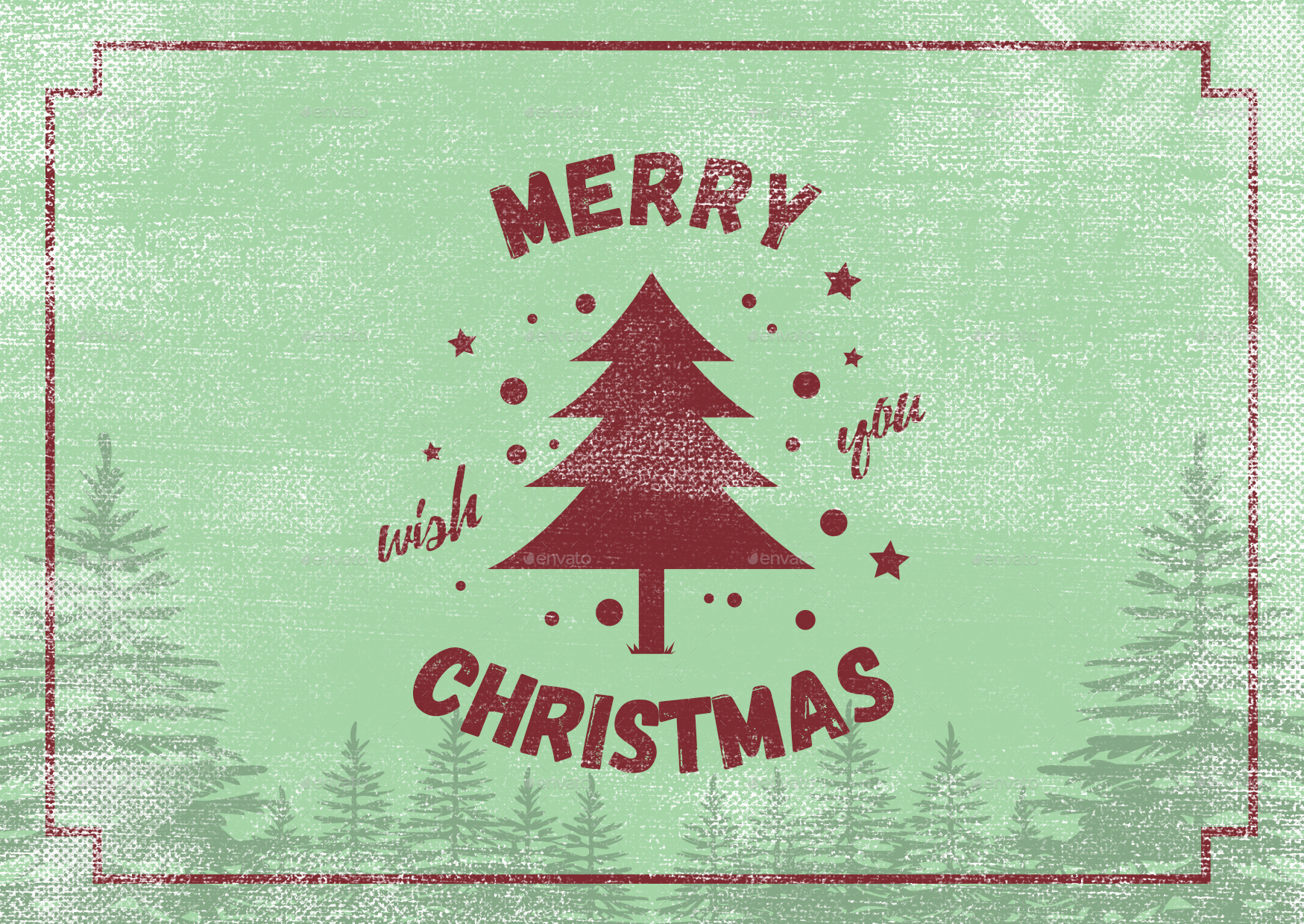 5 Vintage Christmas Cards By Dsc Studio Graphicriver