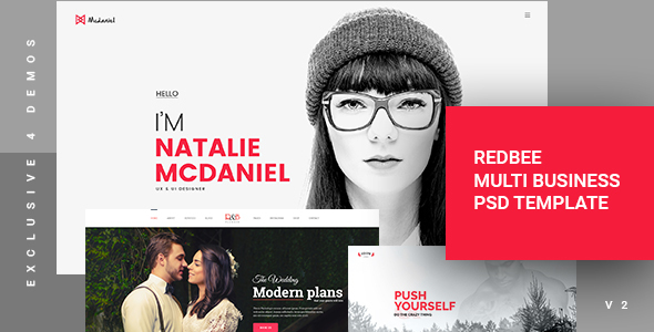 Redbee | Multipurpose Multi Business PSD Template vol-02