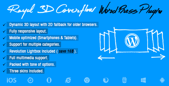 Royal 3D Coverflow Wordpress Plugin - CodeCanyon Item for Sale