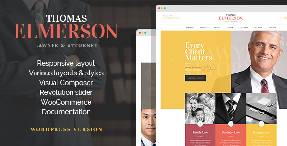 Lawyer & Attorney – Personal Lawyer and Law company WordPress Theme