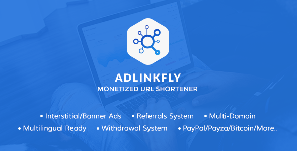 AdLinkFly - Monetized URL Shortener - CodeCanyon Item for Sale