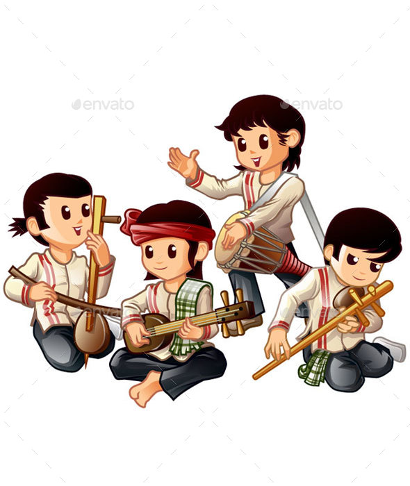 Thai Musicians - People Characters